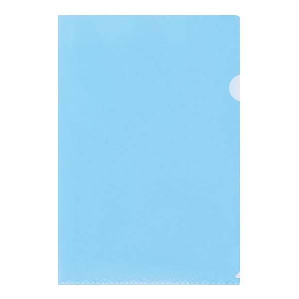 Папка-уголок inФОРМАТ А4, прозрачый пластик 150 мкм, синяя
