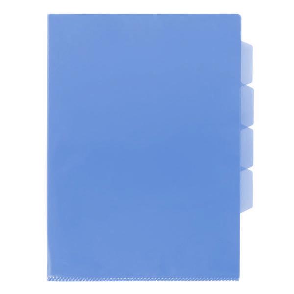 Папка-уголок inФОРМАТ А4 прозрачный пластик 150 мкм, синяя