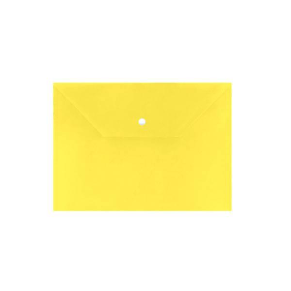 Пластиковый конверт inФОРМАТ А4, на кнопке, непрозрачный 150 мкм, желтый
