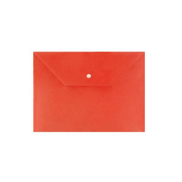 Пластиковый конверт inФОРМАТ А4, на кнопке, непрозрачный 150 мкм, красный