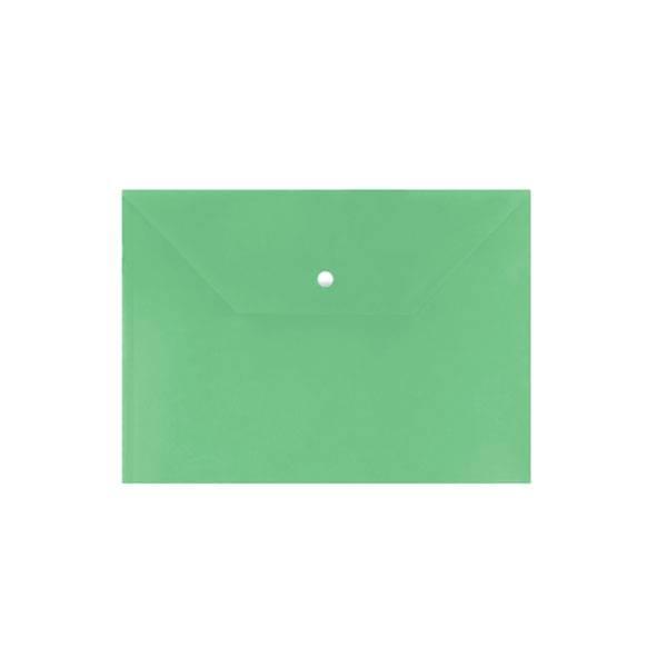 Пластиковый конверт inФОРМАТ А4, на кнопке, непрозрачный 150 мкм, зеленый