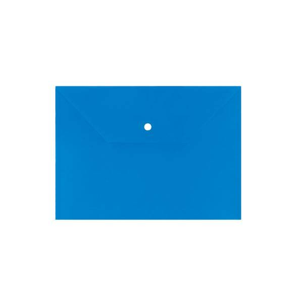 Пластиковый конверт inФОРМАТ А4, на кнопке, непрозрачный 150 мкм, синий