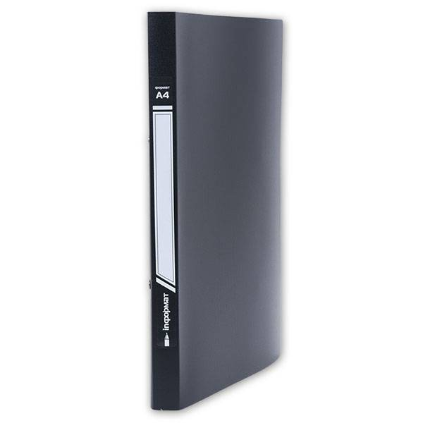 Папка с 1-м прижимом inФОРМАТ А4 пластик 550 мкм, черная