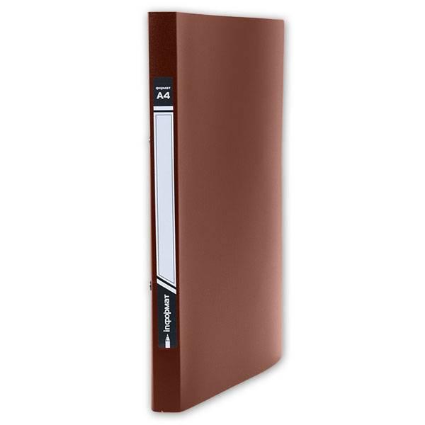 Папка-скоросшиватель inФОРМАТ А4, красная, пластик 500 мкм, внутренний карман