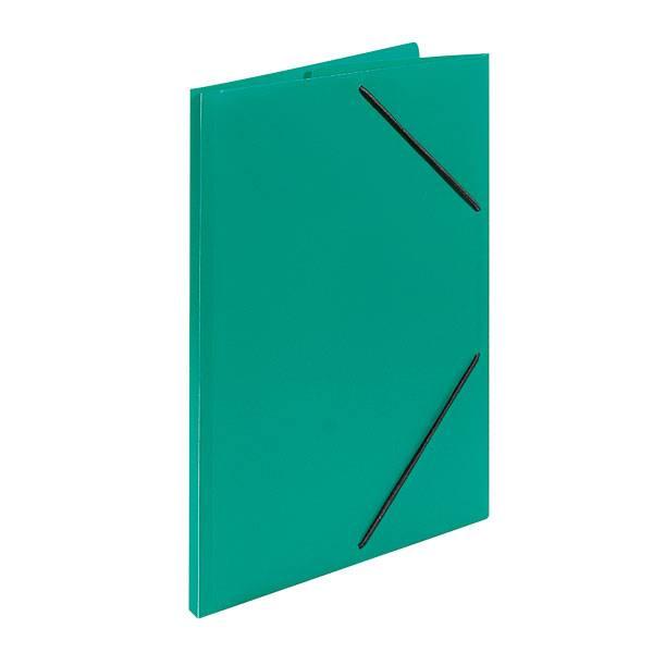 Папка с резинкой inФОРМАТ А4 33 мм пластик зеленая