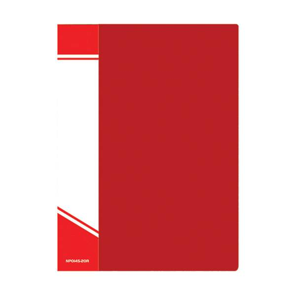 Папка с файлами inФОРМАТ А4 20 файлов, пластик 500 мкм, карман для маркировки