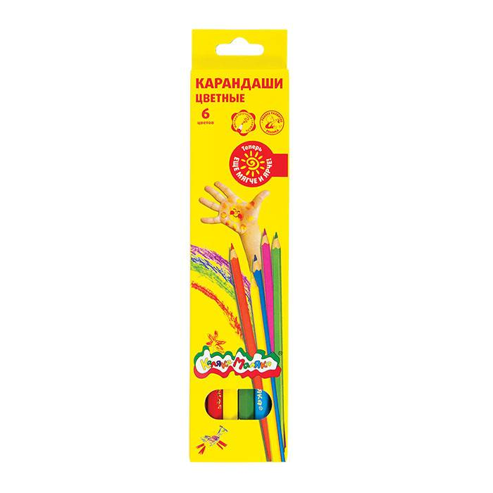 Карандаши цветные Каляка-Маляка 6 цветов
