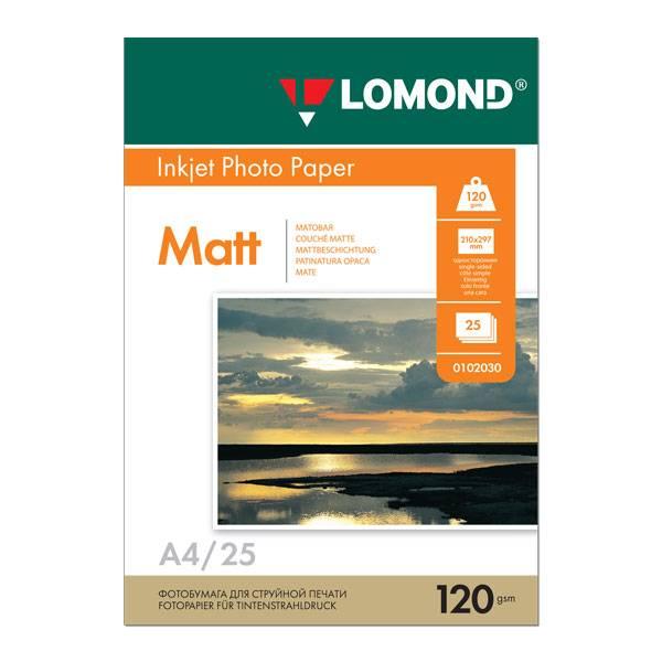 Фотобумага LOMOND матовая А4, 120 г/м2, 25 листов