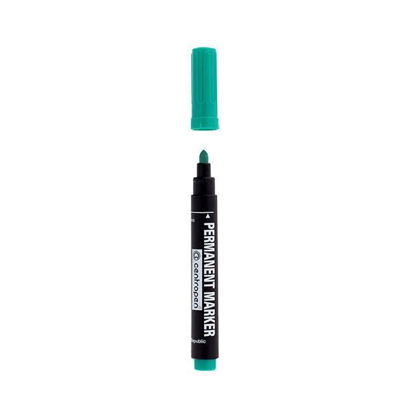 Маркер перманентный PERMANENT 2,5 мм зеленый круглый