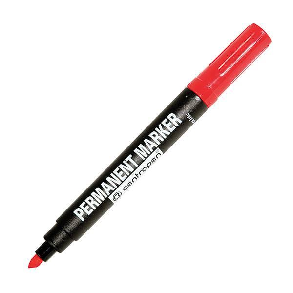 Маркер перманентный PERMANENT 1-4,6 мм красный скошенный