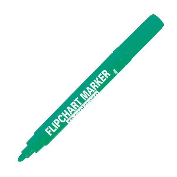 Маркердля флипчартов CENTROPEN FLIPCHART 2,5 мм зеленый круглый