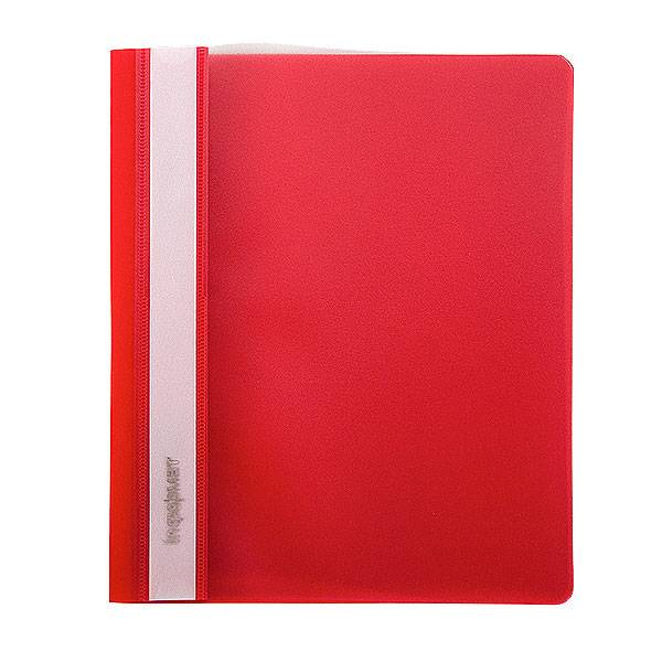 Папка-скоросшиватель inФОРМАТ А4, красная, пластик 180 мкм, карман для маркировки и внутренний