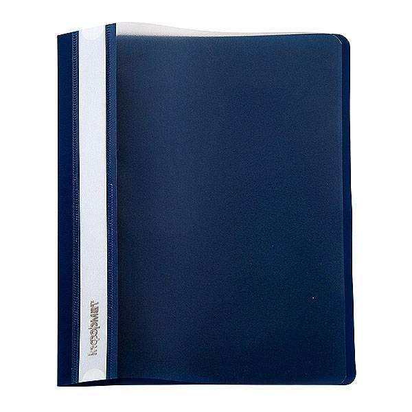 Папка-скоросшиватель inФОРМАТ А4, синий, пластик 180 мкм, карман для маркировки