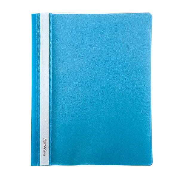 Папка-скоросшиватель inФОРМАТ А4, голубая, пластик 180 мкм, карман для маркировки