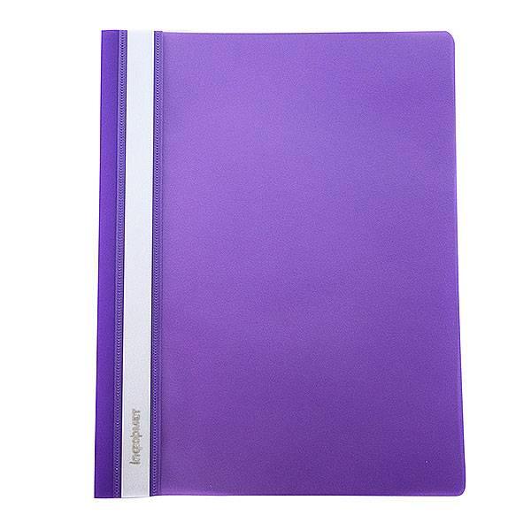 Папка-скоросшиватель inФОРМАТ А4, фиолетовая, пластик 180 мкм, карман для маркировки