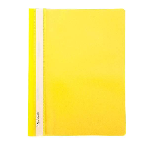 Папка-скоросшиватель inФОРМАТ А4, желтая, пластик 180 мкм, карман для маркипровки
