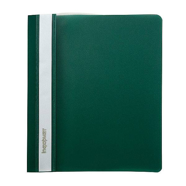 Папка-скоросшиватель inФОРМАТ А4, зеленая, пластик 180 мкм, карман для маркировки