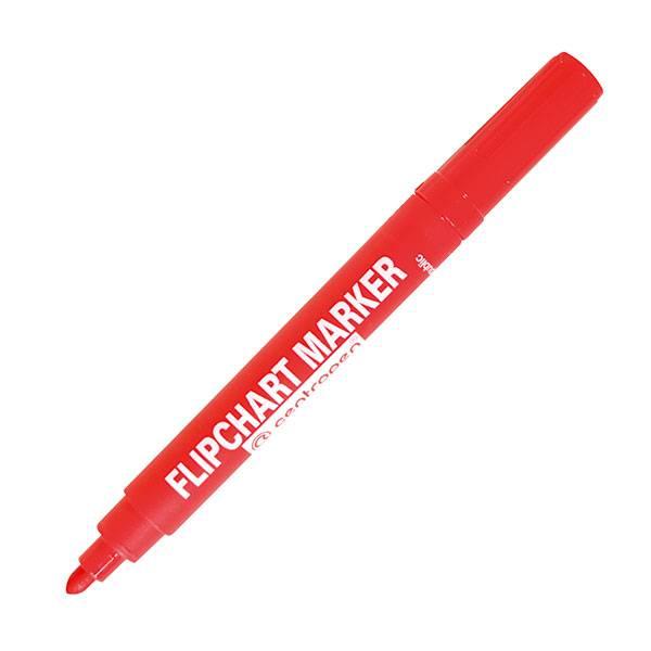 Маркер для флипчартов CENTROPEN FLIPCHART 2,50 мм красный круглый