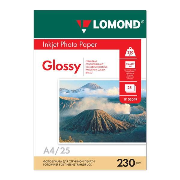 Фотобумага LOMOND глянцевая тиснение А4, 230 г/м2, 25 листов
