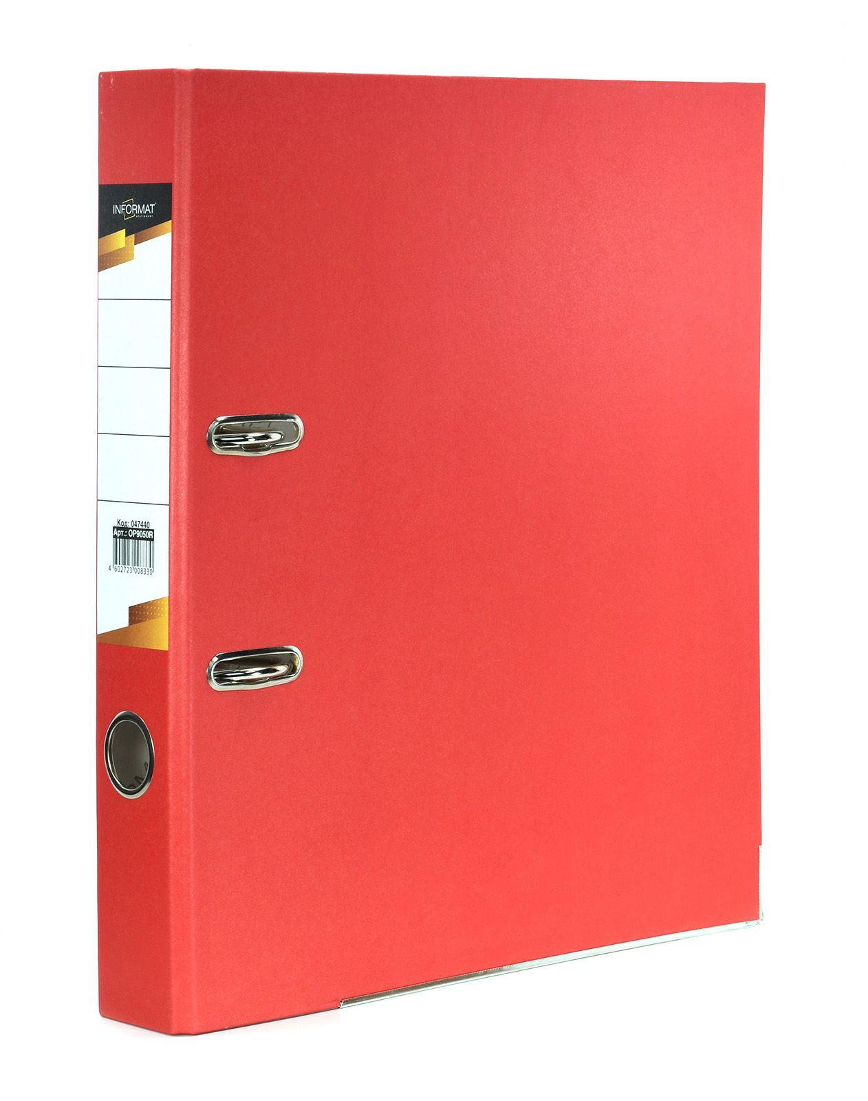 Папка-регистратор INFORMAT 55 мм бумага, красная