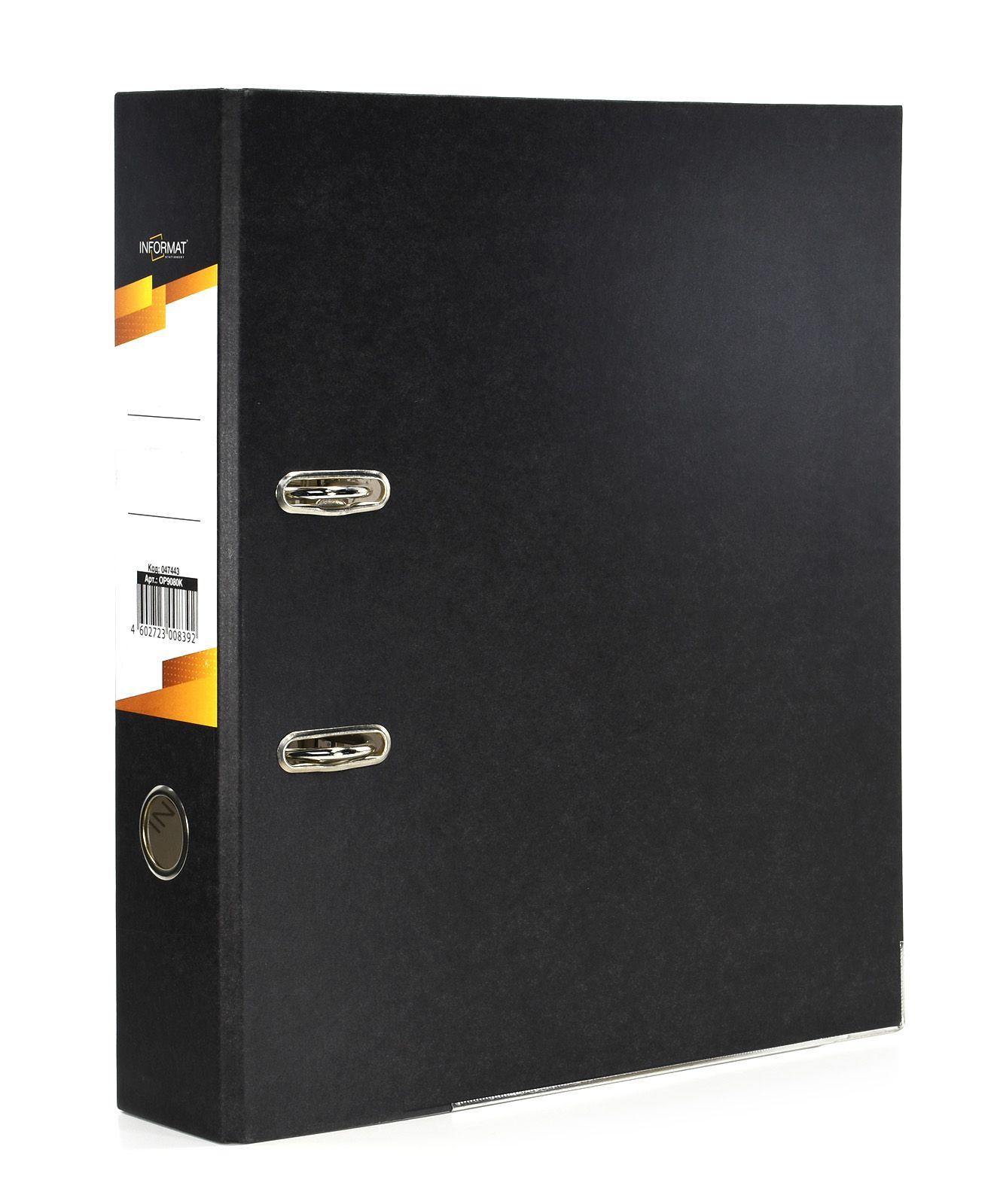 Папка-регистратор INFORMAT 75 мм бумага, черная