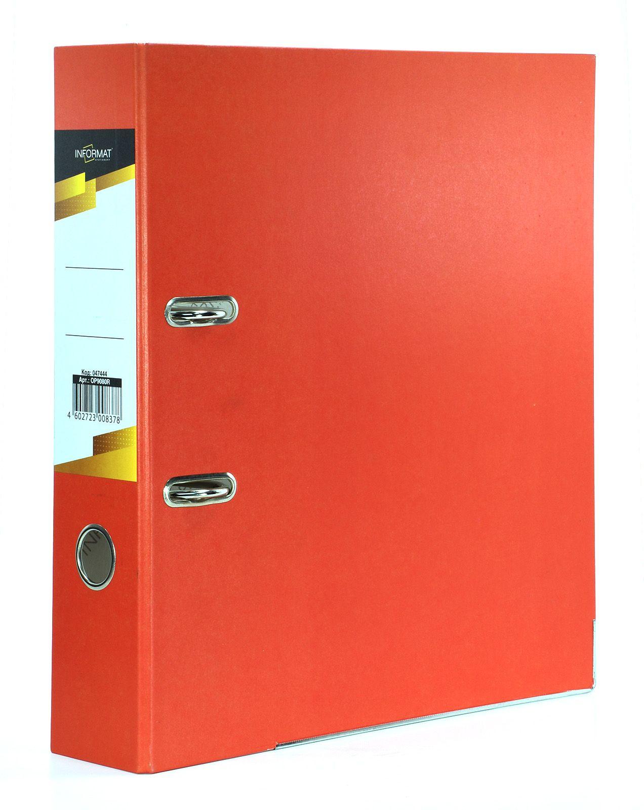 Папка-регистратор INFORMAT 75 мм бумага, красная
