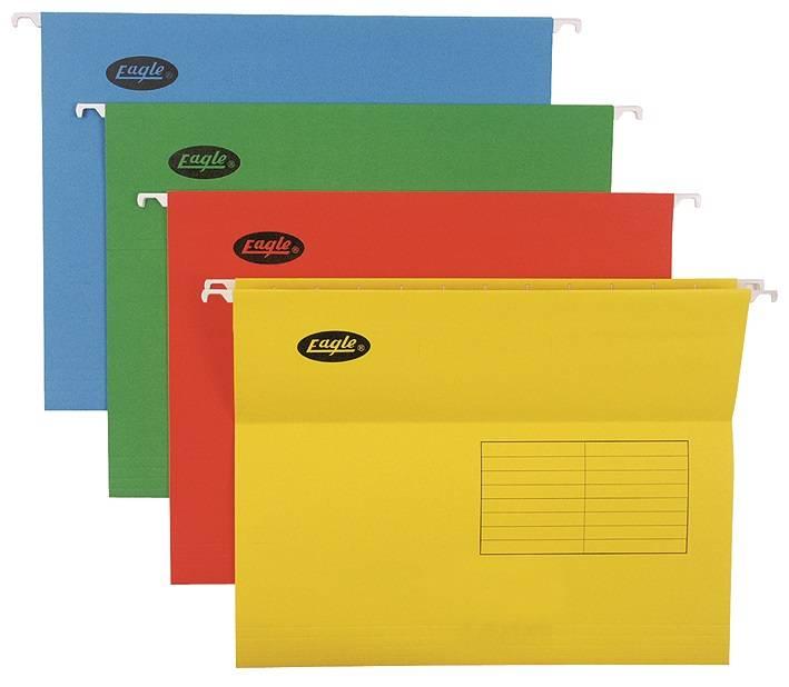 Папка подвесная EAGLE А4 картон ассорти