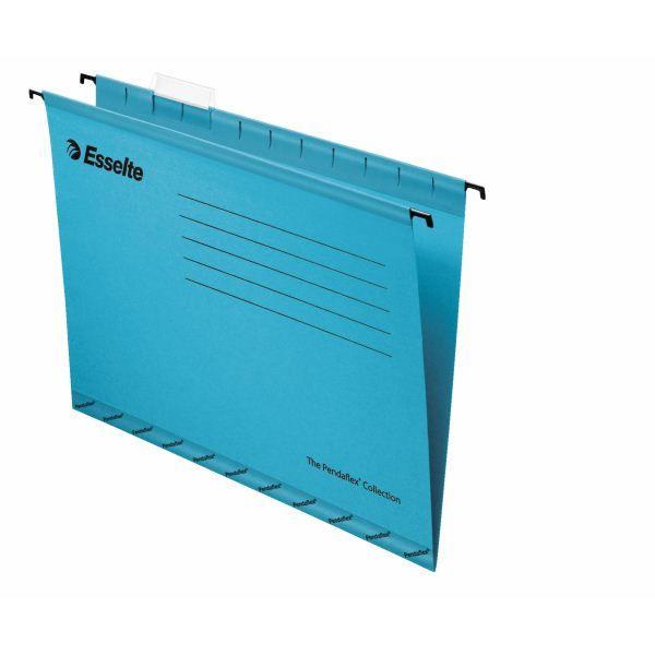 Папка подвесная ESSELTE PENDAFLEX STANDARD А4 картон 205 г/м2 синяя
