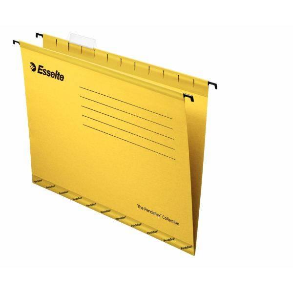 Папка подвесная ESSELTE PENDAFLEX STANDARD А4 картон 205 г/м2 желтая