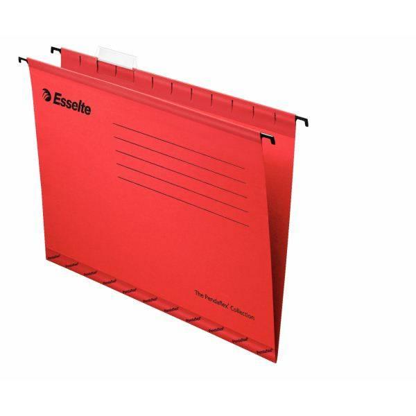 Папка подвесная ESSELTE PENDAFLEX STANDART А4 картон 205 г/м2 красная