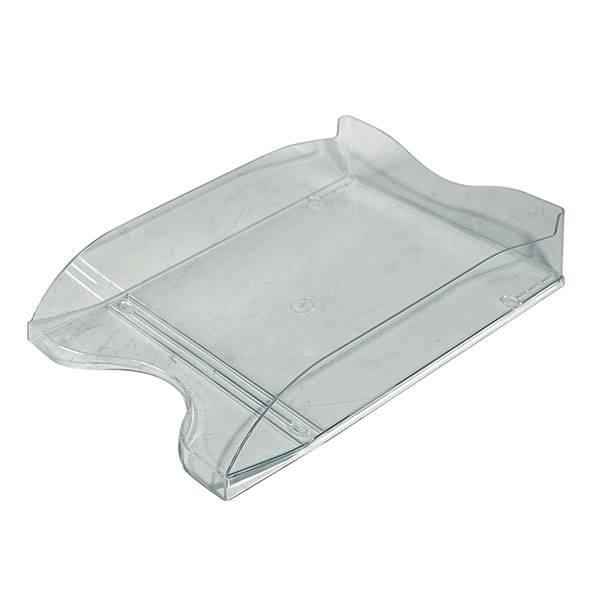 Лоток горизонтальный СТАММ ЛЮКС серый тонированный пластик