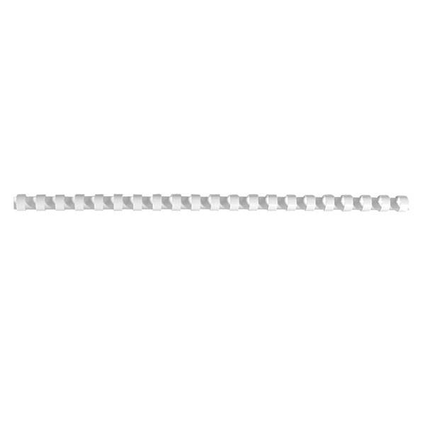 Пружина для переплета FELLOWES 8 мм белый пластик А4