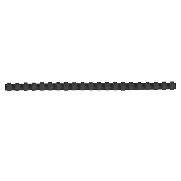 Пружина для переплета FELLOWES 12 мм черный пластик А4 Гребень пл.12,5мм(61-70л),чер.Гребень пл.12,5мм(61-70л),чер. Гребень пл.12,5мм(61-70л),чер.