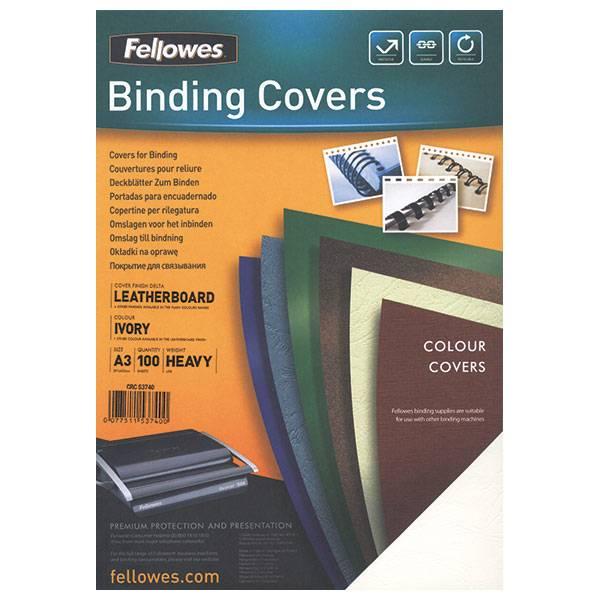 Обложка для переплета FELLOWES DELTA А4 картон 250 г/м² текстура кожа, синяя 100 штук