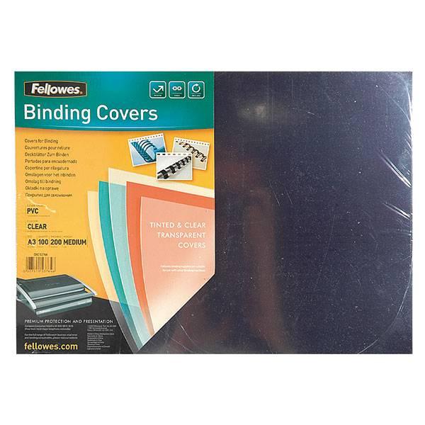 Обложка для переплета FELLOWES А3 пластик 200 мкм прозрачная 100 штук