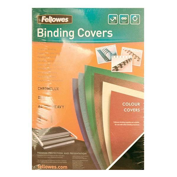 Обложка для переплета FELLOWES CHROMO А4 картон 250 г/м² глянцевая, чёрная 100 штук