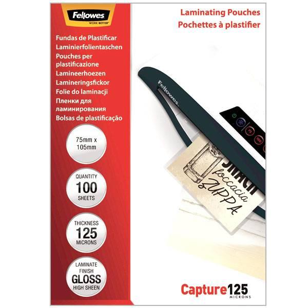 Пленка для ламинирования FELLOWES 75х105 мм 125 мкм глянцевая