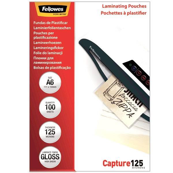 Пленка для ламинирования FELLOWES А6 (111х154 мм) 125 мкм глянцевая
