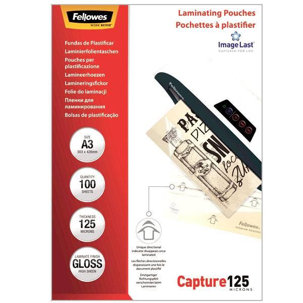 Пленка для ламинирования FELLOWES А3 (303х426 мм) 125 мкм глянцевая