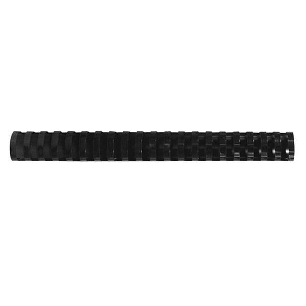 Пружина для переплета, FELLOWES, 19 мм, черный, пластик, А4, 100 шт