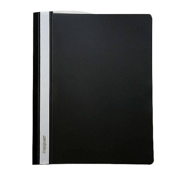 Папка-скоросшиватель inФОРМАТ А4, черная, пластик 180 мкм, карман для маркировки