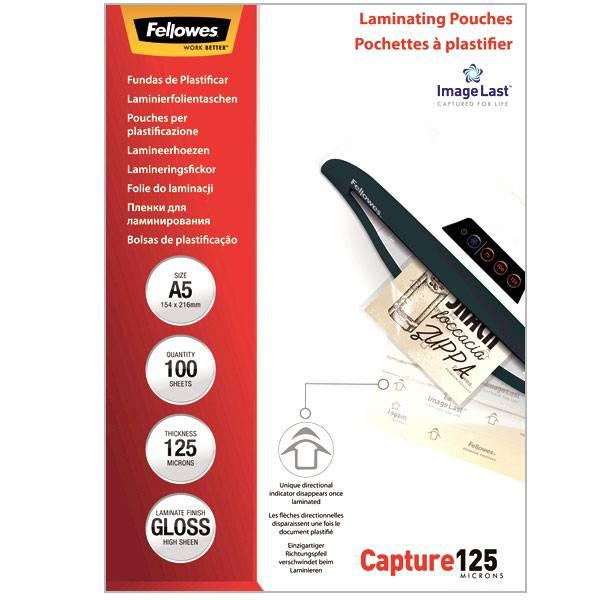 Пленка для ламинирования FELLOWES А5 154×216 мм 125 мкм глянцевая