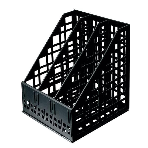 Лоток вертикальный СТАММ сборно-разборный 3 отделения, 240 мм, черный пластик