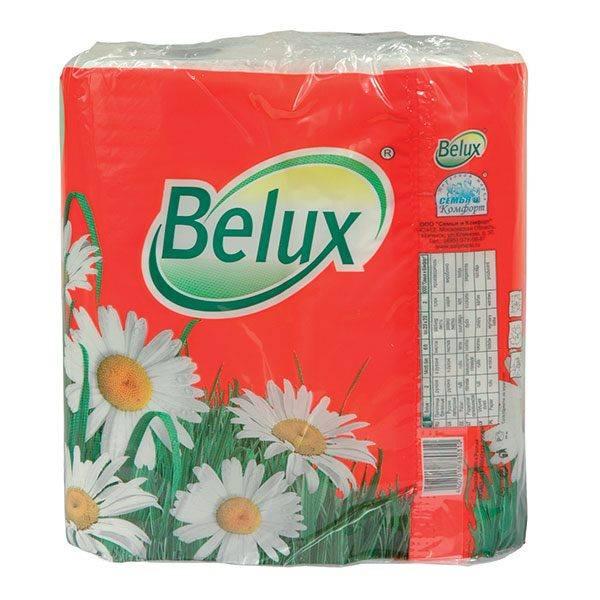 Полотенце бумажные BELUX, 2 слойные, 2 шт, 60 л., 230х230 мм