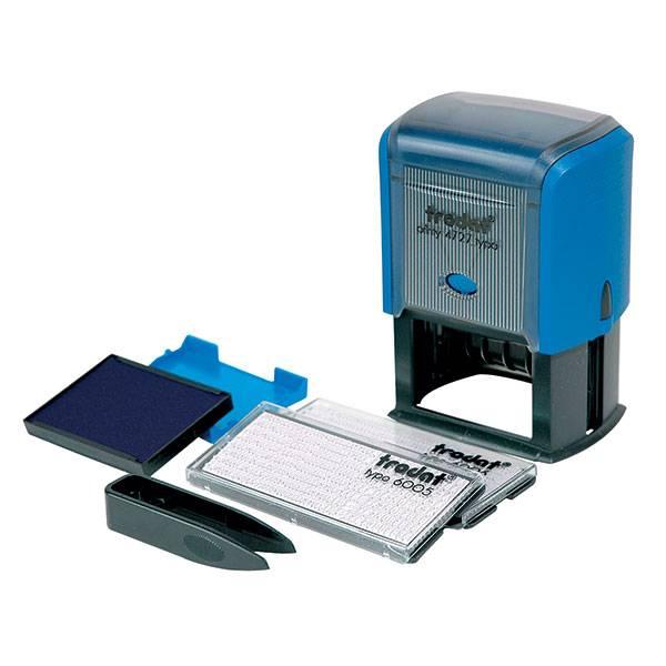 Штамп самонаборный TRODAT 60 х 33 мм 7-строчный, 2 кассы, пластик