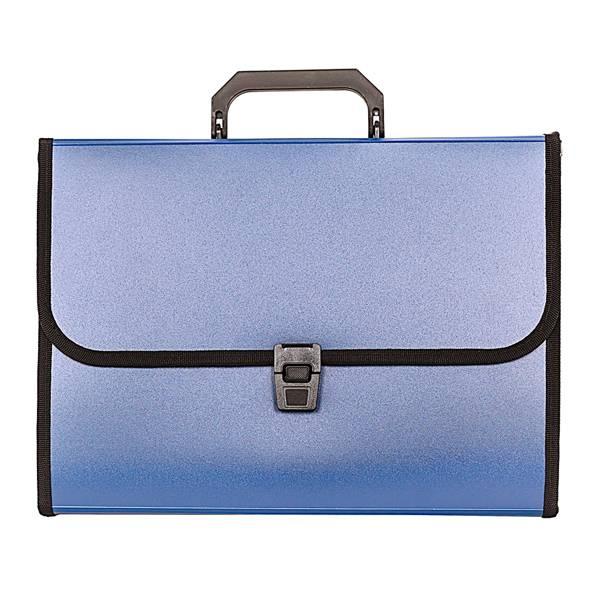 Портфель inФОРМАТ А4, 13 отделений, пластик 700 мкм, синий