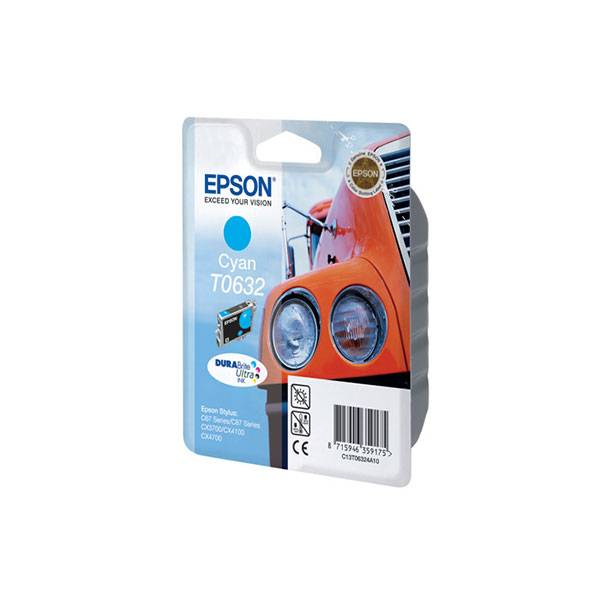 Картридж голубой Epson (T06324A) Stylus C67/87/CX3700/4100 /4700, ресурс 420 стр.