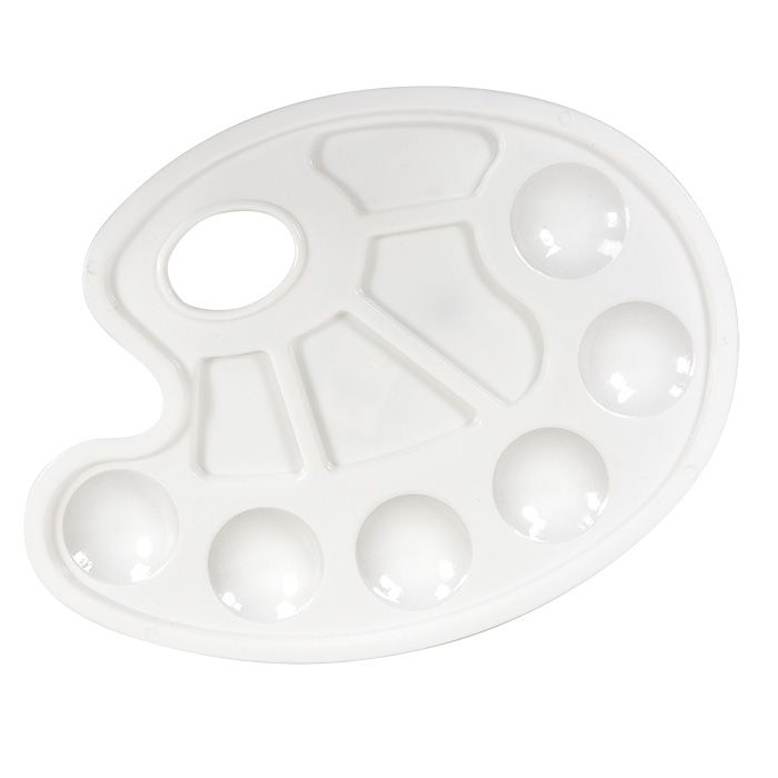 Палитра овальная пластиковая Каляка-Маляка 3+
