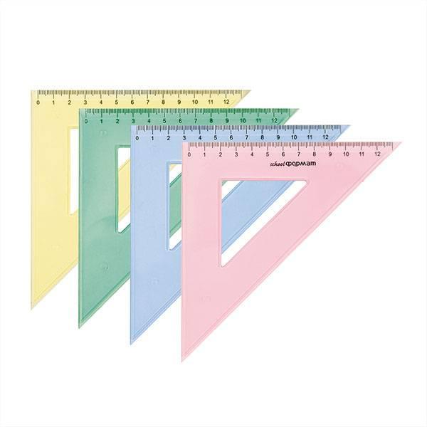 Треугольник 45° 9 см, пластик