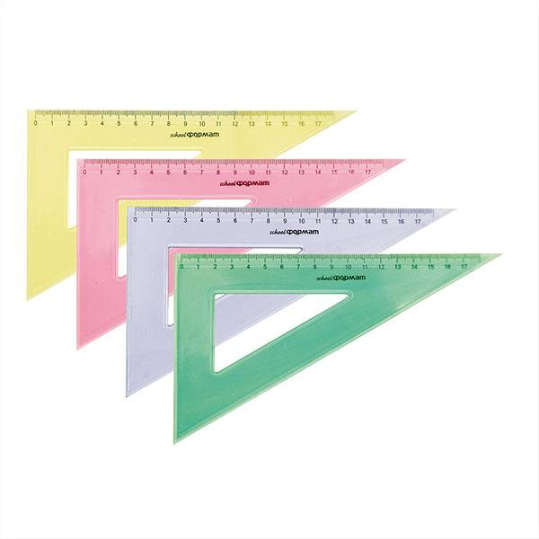 Треугольник 30° 12 см, пластик